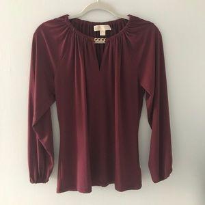 Michael Kors maroon blouse